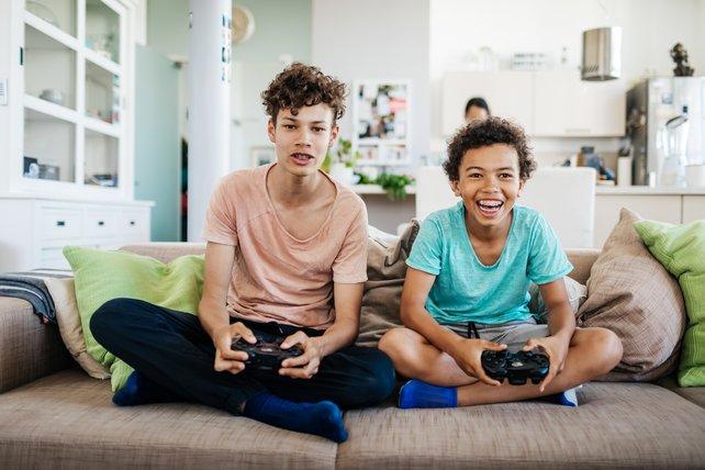 Videospiele führen zu sozialem Austausch. Bildquelle: Getty Images/ Tom Werner