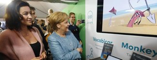 Die Kanzlerin spielt: Bundeskanzlerin Merkel trifft Games-Branche