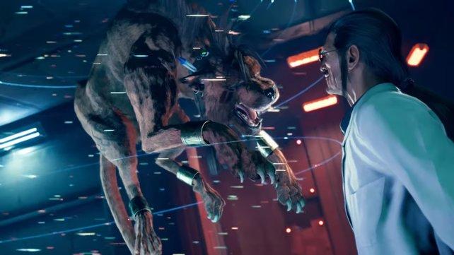 Red XIII nutzt die Gelegenheit, um sich auf seinen Peiniger Hojo zu stürzen, wird aber überraschend aufgehalten.