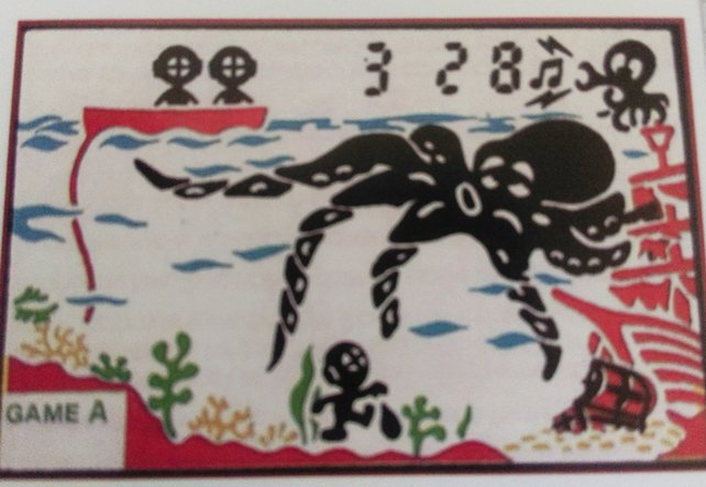 """Bei der deutschen Erstveröffentlichung eines G&W-Spiels weicht dieser gewohnheitsmäßig vom internationalen ab: Aus Octopus wird in Deutschland """"Schnapp' den Schatz!"""""""