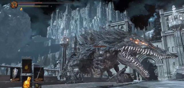 Dieser Gegner heißt Sulyvahns Bestie und ist ziemlich zäh.