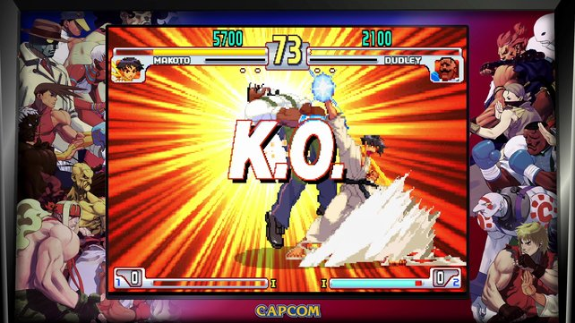 Voll aufs Auge: Makoto zeigt Dudley, wo im Karate-Dojo der Hammer hängt.
