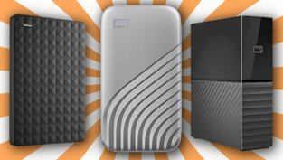 SD-Karten, HDDs und SSDs im Angebot