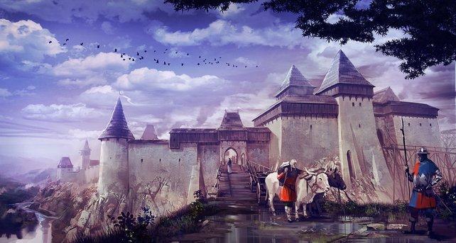 Die Konzeptgrafiken für das Spiel sind oft Darstellungen von real existierenden Bauwerken.