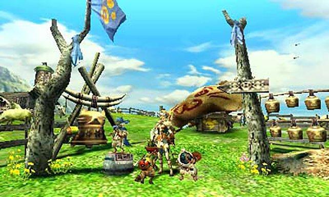 In den Dörfern ruht ihr euch aus und peppt eure Jagd-Ausrüstung auf.