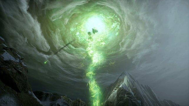 Diese grünen Dimensionslöcher reißen die Welt von Dragon Age - Inquisition ins Chaos.