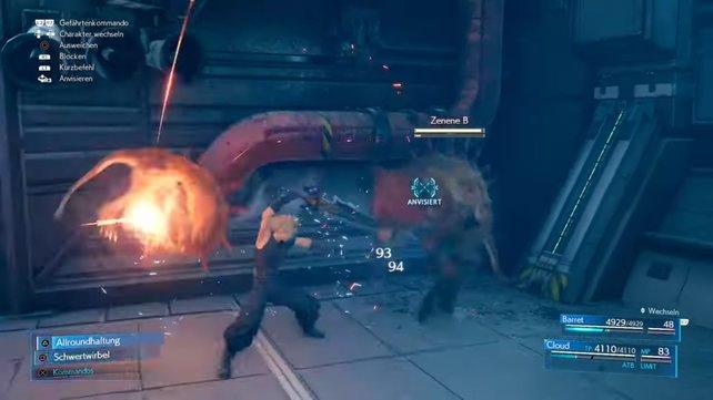 Genau wie Tifa und Aerith zuvor, müssen sich nun auch Cloud, Barret und Red XIII mit zwei Zenenen herumschlagen.