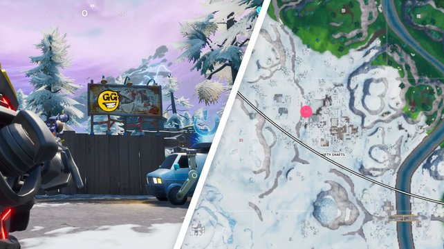 Die erste von Graffitis beschmierte Plakatwand steht im westlichen Ausgang von Shifty Shafts.