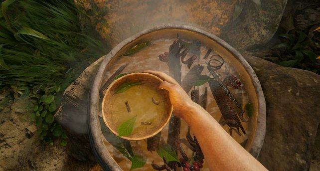 Green Hell bietet das volle Survival-Programm: Jagen gehen, Gefahren der Natur strotzen, Süppchen kochen.