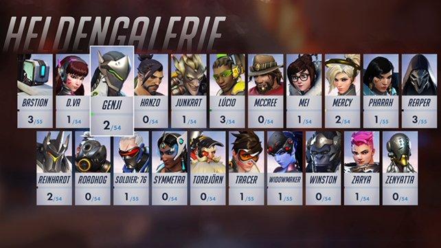 Die 21 Helden von Overwatch.