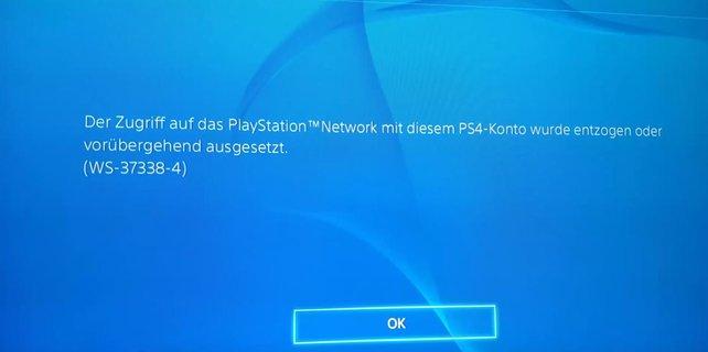Sony hat euch gebannt? Das hat meistens einen Grund, den ihr dem Fehlercode entnehmen könnt.