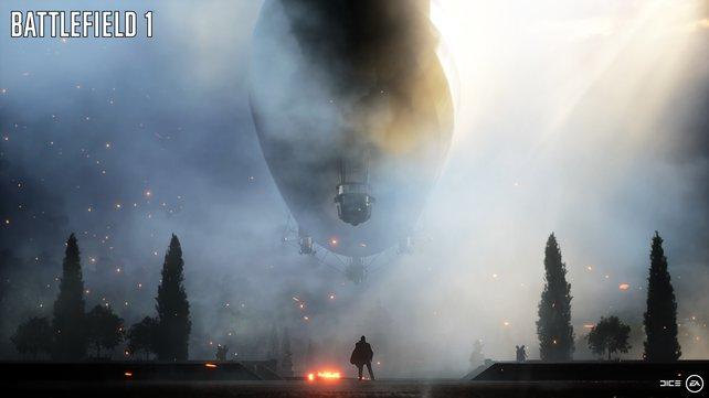 Der Zeppelin, offenbar das größte Gefährt, das Dice bisher für ein Spiel zum Leben erweckt hat.