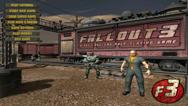 Die Urfassung von Fallout 3 sieht deutlich plumper aus, erscheint aber nie.