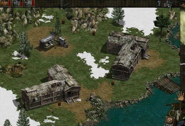 Explosive Fässer sind ein gutes Mittel, um die Gegner in Commandos auszuschalten.