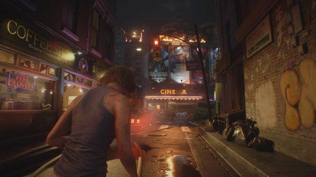 Der bunte Schein trügt: Raccoon City ist der letzte Ort auf der Welt, an dem ihr sein wollt.