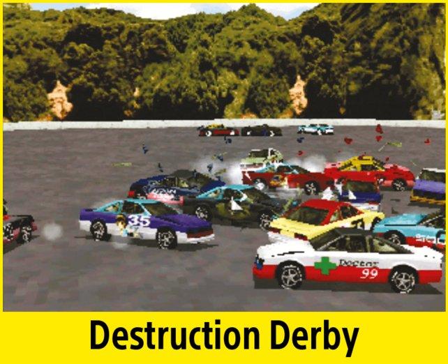 Online werdet ihr bei Destruction Derby nicht gegeneinander antreten können.