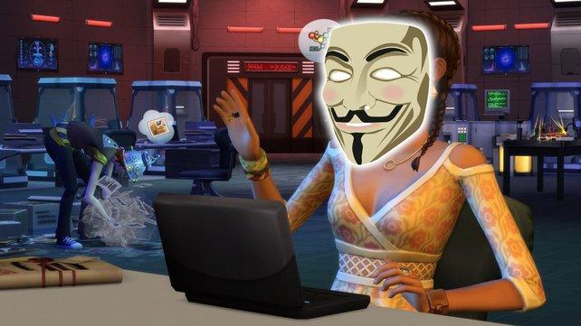 """""""Die Sims 4""""-Spieler kreiert eine Hacker-Gruppe mit perfekter Anonymität."""