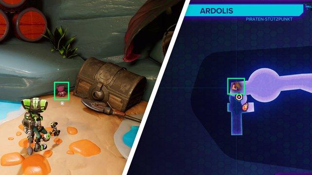 Links von dem Stand, in dem ein Roboter steht, findet ihr den achten CraiggerBear.