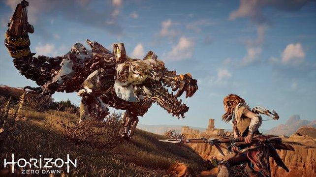 Die Auseinandersetzung zwischen Mensch und Maschine ist Alltag in Horizon - Zero Dawn.