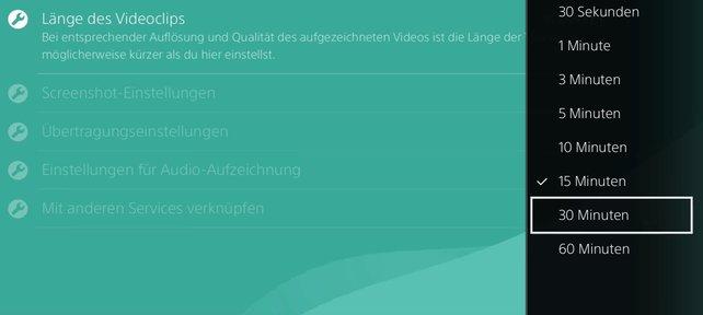 Diese Optionen stehen euch jetzt zur Verfügung, wenn ihr auf der PS4 Videos aufnehmen und die Länge selbst bestimmen wollt.