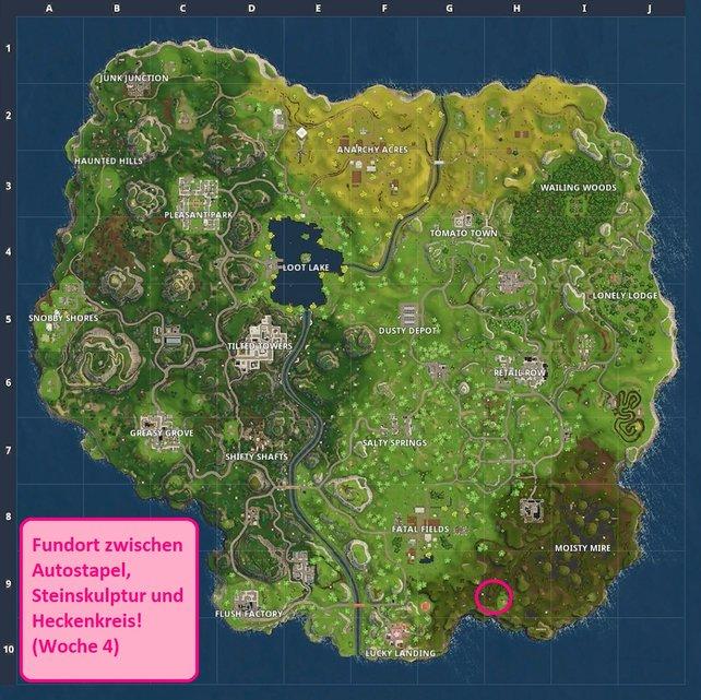 An der markierten Stelle (rosa Kreis) findet ihr den Ort für die Herausforderung in Woche 4.