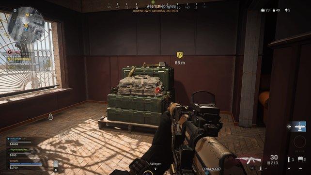 Haltet nach diesen grünen Kisten Ausschau! Hier könnt ihr Munition aufstocken.