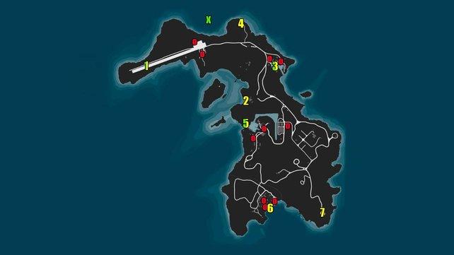Alle Zugangspunkte, Fluchtpunkte und sekundären Ziele des Cayo Perico-Heists in GTA Online