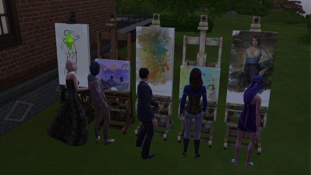 Eure Sims können nicht nur Meisterwerke, sondern auch emotionale Gemälde malen.