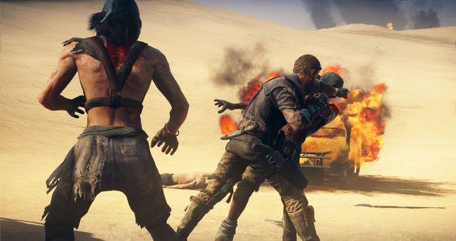 Gegner verkloppen. dass kann der Mad Max.