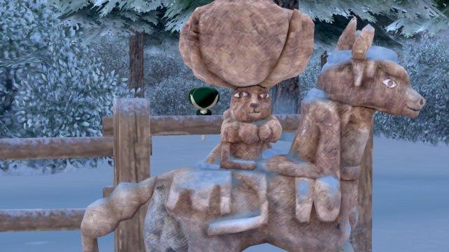 Setzt diese Holzstatue zusammen, um Coronospa erscheinen zu lassen.