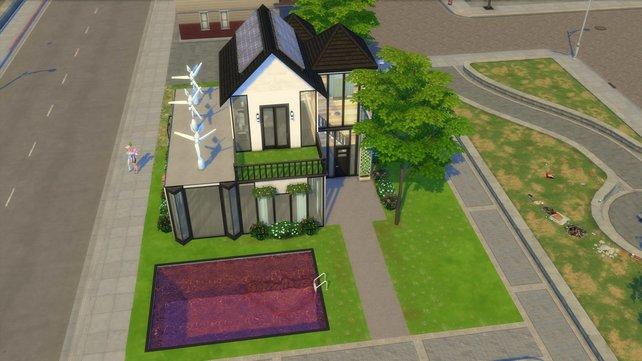 In der Sims-Galerie findet ihr bereits viele schöne Eco-Häuser von anderen Usern, wie hier vom User BayBay011994.