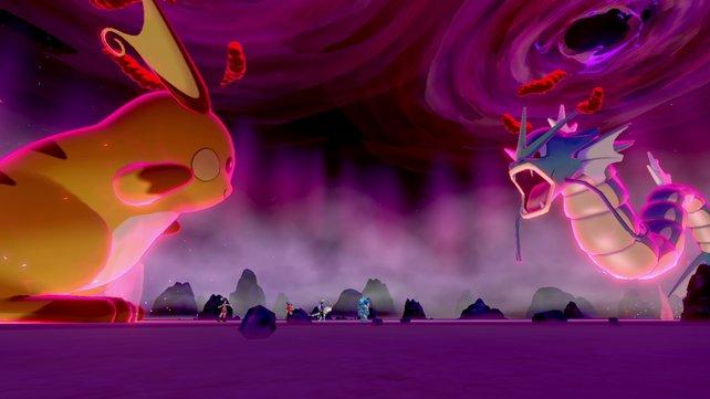 In Raids treten Dynamax-Pokémon gegeneinander an.
