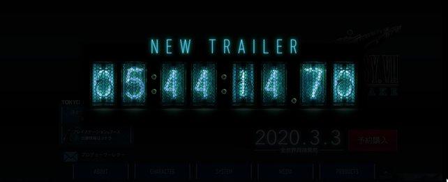 Mit diesem Countdown kündigt sich der Trailer an.