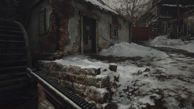 In diesem Haus findet ihr den Wassermühlenschatz.