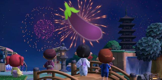 """In Animal Crossing: New Horizons könnt ihr nun euer eigenes Feuerwerk machen."""""""