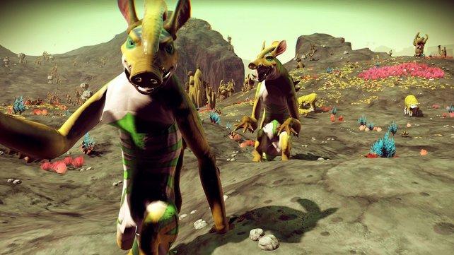Etwas ulkig sehen einige Tiere bei No Man's Sky schon aus: Entdeckt alle von ihnen und scannt die Tiere, um Units zu erhalten.