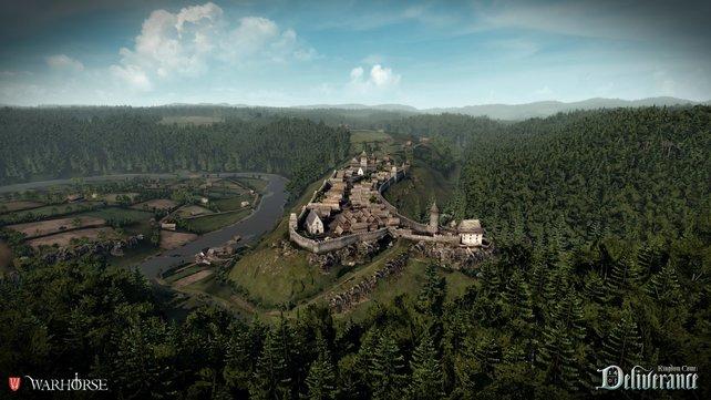 Mittelalterliche Städte und Bauten wurden so authentisch wie möglich umgesetzt.