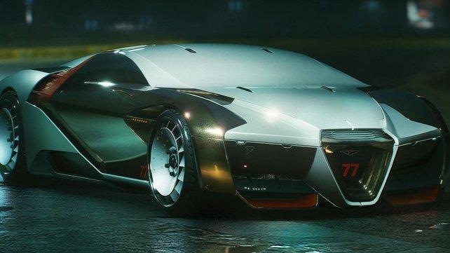 Der Rayfield Caliburn ist das schnellste Auto im gesamten Spiel.