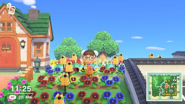 Achtet auch darauf Mannequins zwischen den Blumen zu erstellen.