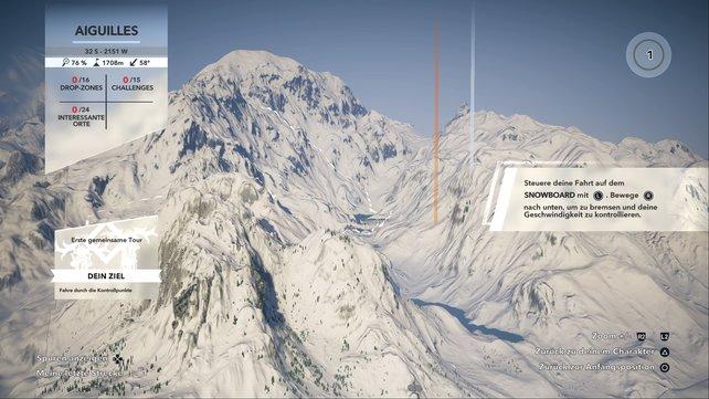 Übersichtlich: Auf der Karte könnt ihr alle verfügbaren Herausforderungen sehen. Nur eine Filter-Funktion fehlt leider.