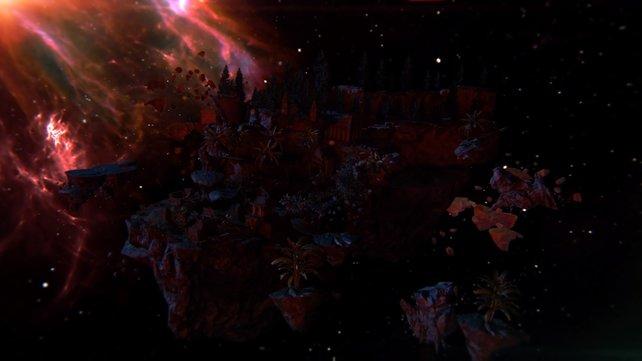 Die Zombie-Map Revelations besteht aus einem in Teile zerbrochenen Ort. Die Ebenen könnt ihr mithilfe von Teleportern bereisen.