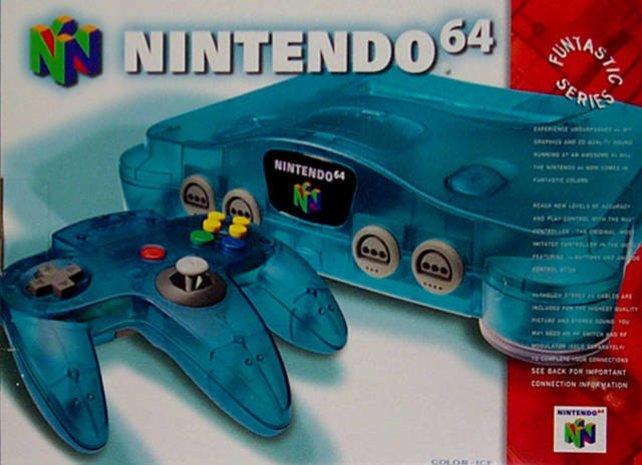 Gegen Ende seiner Lebenszeit kommt das N64 auch noch in transparenten Farbtönen auf den Markt.