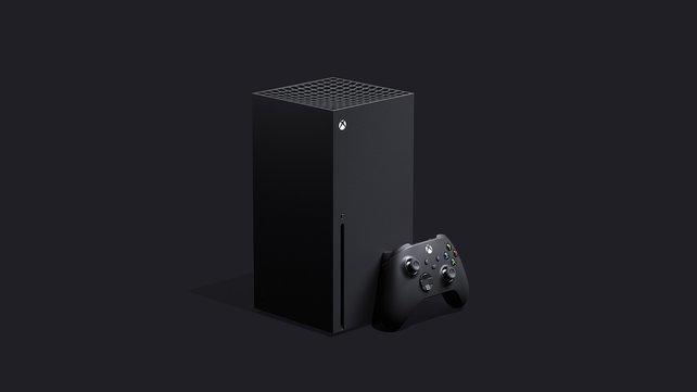 Die Xbox Series X fällt durch ihr ungewöhnliches Design auf.