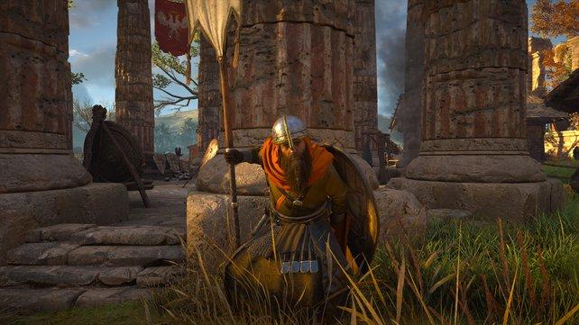 Die schweren Soldaten sollten mit einem Schild und einer Lanze ausgestattet sein.