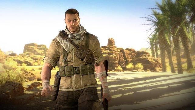 Ein Mann und sein Gewehr: Karl Fairburne ist der Held des Spiels.