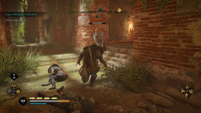 In der Kloake wird die Schmugglerin Nolwenn von mehreren Banditen attackiert, die ihr erledigen müsst.