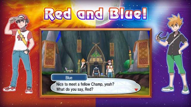 Trainer Rot und Blau sind ebenfalls von der Partie.