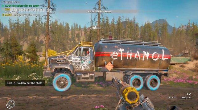 Ethanol-Tankwagen sind eine gute Quelle für das kostbare Gut in Far Cry - New Dawn.