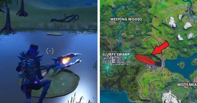 Ihr könnt in Fortnite auch die Seerosen als Sprungflächen nutzen.