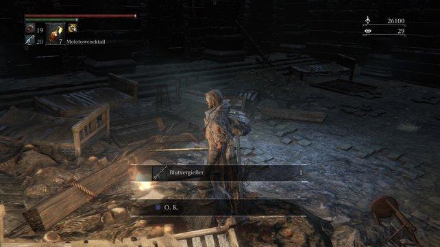 Habt ihr euch an Geweihjäger Brador gerächt, erhaltet ihr von ihm die letzte Trickwaffe.
